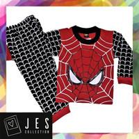 Baju setelan panjang anak laki-laki spiderman eye 1-10 tahun