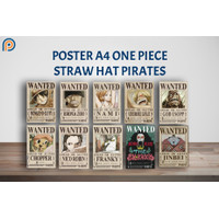 Poster Anime Bounty One Piece - Wanted Poster One Piece