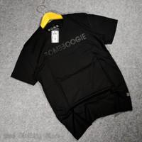 baju kaos bomboogie tshirt / baju atasan pria ORIGINAL BOMBBOGIE - Hitam, XL