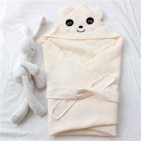 Selimut Topi Bayi Hoodie Blanket - Panda