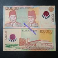 Uang Kuno Indonesia 100 Ribu Rupiah Polymer 1999 UNC Asli Original