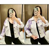 Jacket Blueberry Tie Dye Baju Jaket Wanita Best Seller VLH