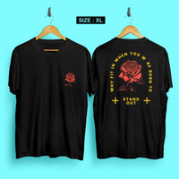 JF Kaos distro pria Stand Out XL T-shirt pria Baju pria Atasan pria