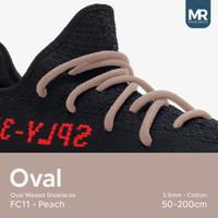 Tali Lilin Oval 200cm Variasi Warna untuk Sepatu Sneakers