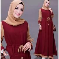 Renata dress baju gamis pakaian wanita fashion muslim