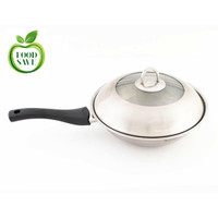 Panci Wok 24cm Stainless Steel Food Grade SNI 24 cm Wajan Tebal Besar