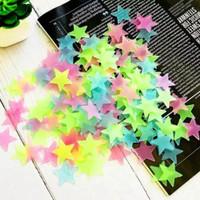 Stiker Bintang 100PCS Stiker Dinding Glow In The Dark Star Sticker Imp