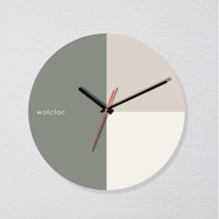Jam Dinding Wolcloc 3 Sliced Industrial Earth Tone