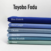 kain bahan katun Toyobo fodu kain seragam katun toyobo