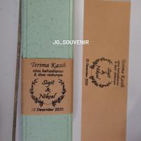 Souvenir Pernikahan Unik dan Murah label/kartu ucapan Custom Nama