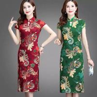 dress imlek wanita premium/cheongsam dress wanita