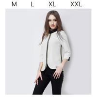 Baju atasan korea cewek wanita putih blouse formal casual kantor kerja
