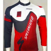 Baju sepeda balap lengan panjang cowok cewek unisex roadbike jersey