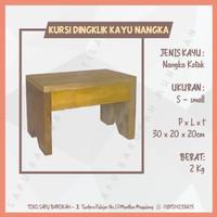 Kursi Bangku Jongkok / Dingklik Kayu Nangka Kotak Ukuran Small