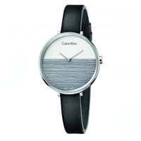 Calvin Klein K7A231C3 - Jam Tangan Wanita - Hitam Silver - Original