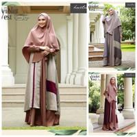 Ori Haihai haitwo Gm 090 Setelan Baju gamis Syari + hijab Terbaru