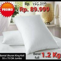 Bantal Hotel Ukuran King Koil 55x75 CM Berat 1.2 Kg Premium Bintang 5