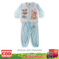 Setelan Baju Bayi Panjang Tokusen - SPCL-D-BIRU, UK L