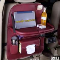 car seat organizer plus meja lipat tas jok mobil multipungsi - maroon, All Size