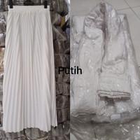 rok plisket biasa bahan hyget premium