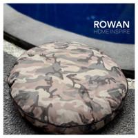 Bantal Duduk Motif Army Print Bantal Sofa Bulat