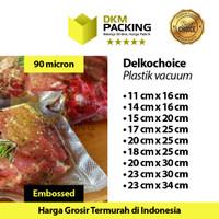 Plastik Vacuum Bag POLOS EMBOSS Vacum Vakum Sealer DELKOCHOICE /SATUAN