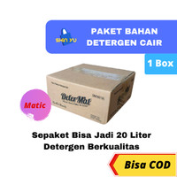 Bahan Sabun Cuci Cair Laundry / Matic DETERMAT 1 Box Jadi 20 Liter