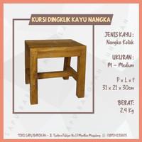 Kursi Bangku Jongkok / Dingklik Kayu Nangka Kotak Ukuran Medium