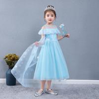 Kostum + Sayap Princess Elsa Frozen 2 Gaun Pesta Baju Ultah K20/21