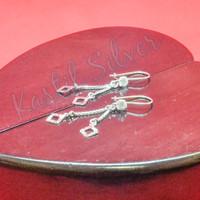 anting jurai mainan wajik ukir perhiasan perak 925