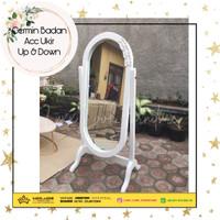 Cermin/Kaca Satu Badan Standing/Berdiri Ukir Duco Atur/Adjust Jepara
