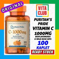 Puritan Vitamin C 1000mg -100 kaplet Bioflavonoids & Rose Hips 1000 mg