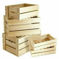 Packingan peti kayu ukuran Besar untuk keamanan Souvenir