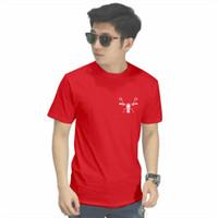 Kaos BEKTU C70 Kaos Distro Pria / Tshirt Pria / Tshirt Wanita - Merah, S