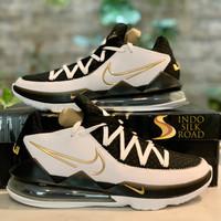 Sepatu Basket Nike Lebron 17 Low Lakers Home Metallic Gold ORIGINAL