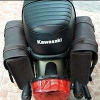 tas motor Kawasaki w175 / tas back rack w175 aksesoris motor
