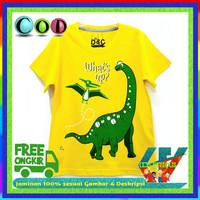 Baju Anak Murah / kaos Lengan Pendek Motif Dino / 1-11 tahun