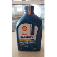 Oli Motor Shell Advance AX7 Matic 10W-40 0.8 liter Original
