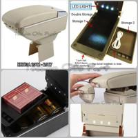 Armrest Console Box Ertiga 2012 - 2017 Dual Layer 7 Usb + Led Light