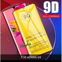 tempered glass 9D advan G9 anti gores kaca