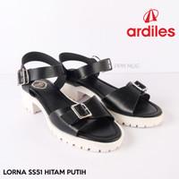 Ardiles Sandal Wanita Lorna Hitam Putih ss51 original