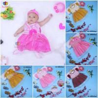 Gaun Bayi uk. 0-12 bulan/ Dress Baby Murah Baju Bayi Perempuan Pesta