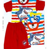 Baju anak laki-laki setelan Hayami baby shark 10-14