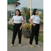 Baggy Pants BIG SIZE JUMBO Celana Panjang Wanita Bahan Kerja 4L-8L