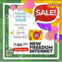 10GB Perdana Paket Data Internet Indosat New Freedom Internet 10 GB