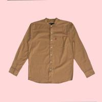 Kemeja Koko Lengan Panjang Monochrome Camel Plain Shanghai Shirt