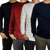 Kaos Polos Lengan Panjang Premium Cotton Combed 30 Pria Wanita