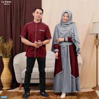 Couple Gamis Suami Istri / Baju Pasangan Muslim Terbaru-cp Najwa