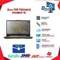 Laptop Asus TUF FX506LU I766B6T-O| i7 10870H 8GB 512ssd GTX1660Ti 6GB