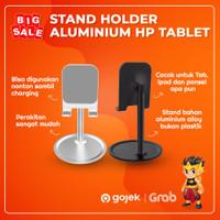 Stand Holder Aluminium HP Tablet 4.7 - 10.5 Inch Penyangga Universal